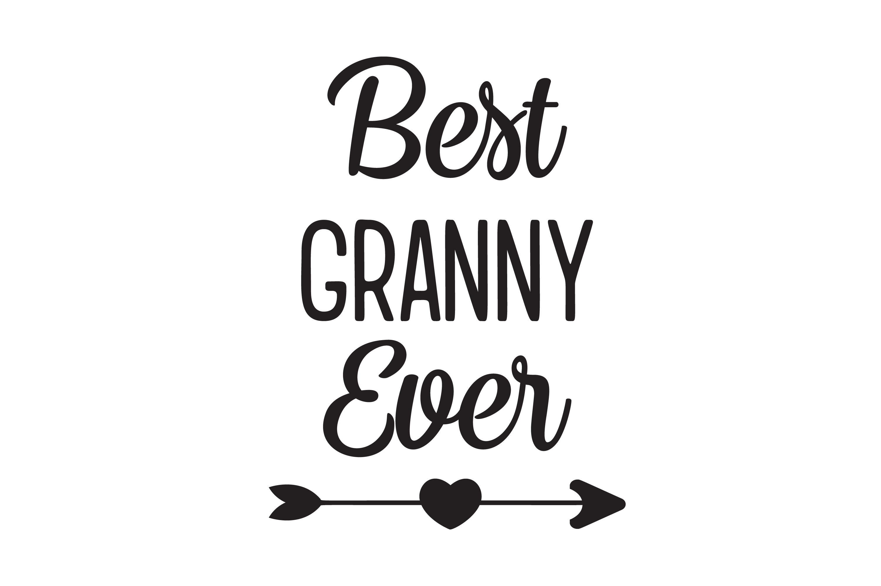 Download Free Best Granny Ever Heart Arrow Graphic Svg Graphic By Am Digital for Cricut Explore, Silhouette and other cutting machines.