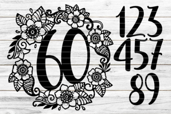 Birthday Wreath with Numbers 0-9 Graphic Crafts By seehas-design