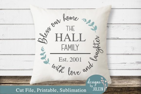 Download Free Bless Our Home Graphic By Designs By Jolein Creative Fabrica for Cricut Explore, Silhouette and other cutting machines.