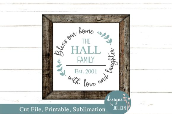 Print on Demand: Bless Our Home Graphic Crafts By Designs by Jolein - Image 2