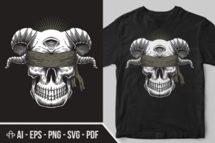 Download Free Blind Skull One Eye Illustration Graphic By Andypp Creative SVG Cut Files