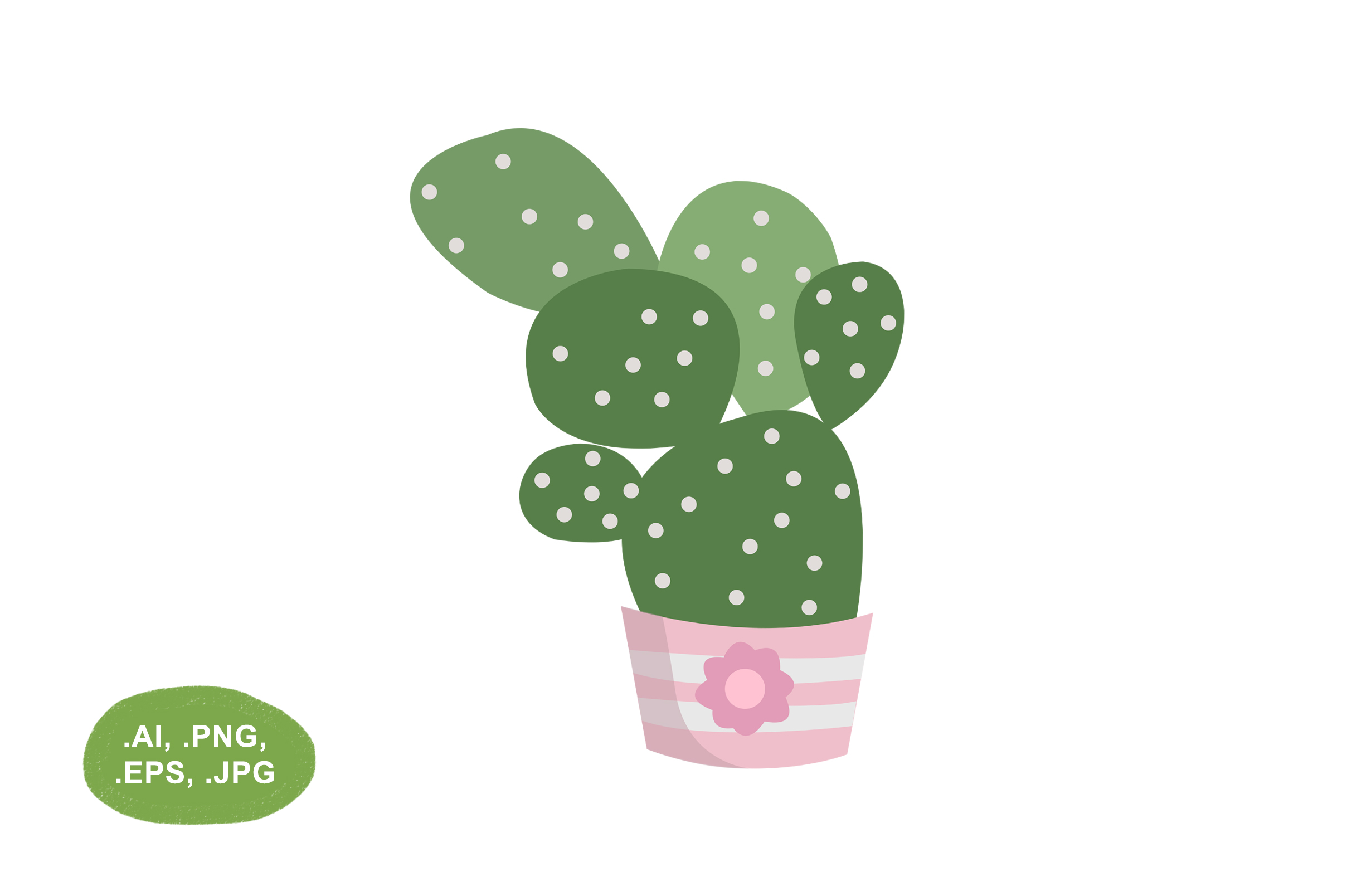 Download Free Botanical Cactus Vector Illustration Graphic By Salfiart for Cricut Explore, Silhouette and other cutting machines.
