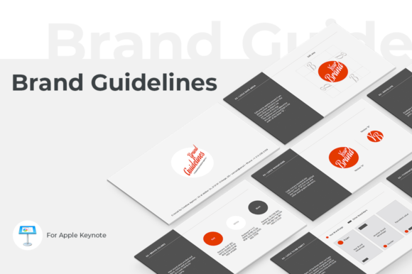 Brand Guidelines Keynote Template Graphic Presentation Templates By JetzTemplates