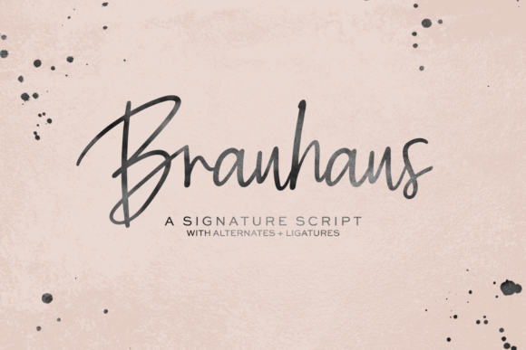 Print on Demand: Brauhaus Script & Handwritten Font By BeckMcCormick