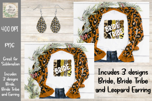 Print on Demand: Bride, Bride Tribe, Leopard Brush Stroke Graphic Print Templates By You Make It Personal
