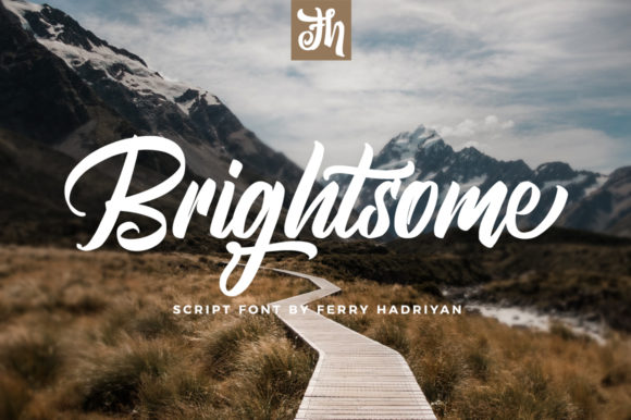 Print on Demand: Brightsome Script & Handwritten Font By feydesign
