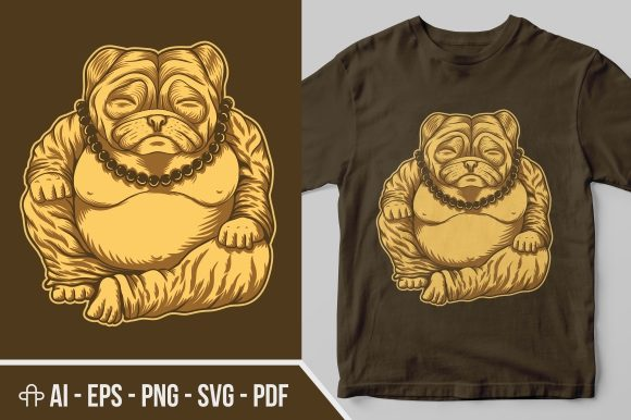 Print on Demand: Budai Pug Illustration Graphic Illustrations By Andypp