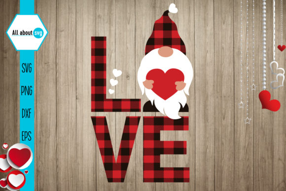 Buffalo Plaid Valentines Gnome Svg Gráfico Crafts Por All About Svg