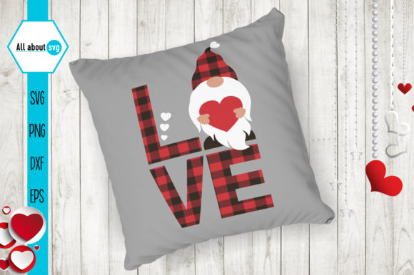 Buffalo Plaid Valentines Gnome Graphic By All About Svg