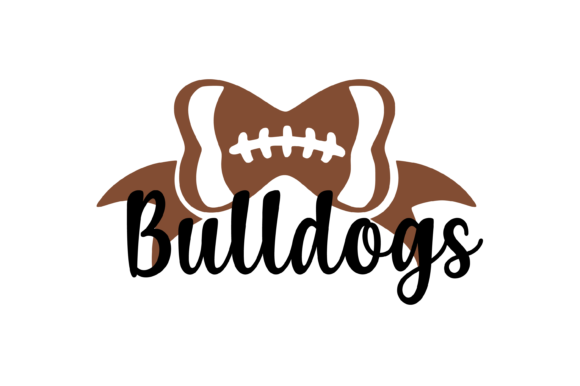 Download Free Bulldogs Football Bow Svg Graphic Graphic By Am Digital Designs for Cricut Explore, Silhouette and other cutting machines.