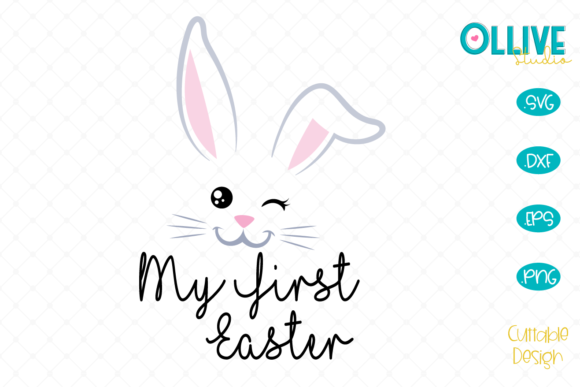 Download Free Bunny My First Easter Svg Graphic By Ollivestudio Creative Fabrica for Cricut Explore, Silhouette and other cutting machines.