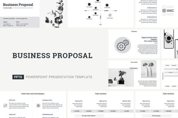 Business Proposal PowerPoint Template Graphic Presentation Templates By JetzTemplates