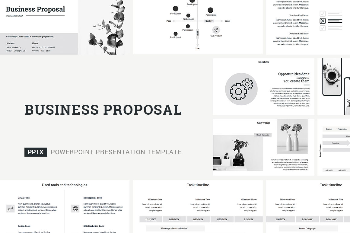 Download Free Business Proposal Powerpoint Template Grafico Por Jetztemplates for Cricut Explore, Silhouette and other cutting machines.