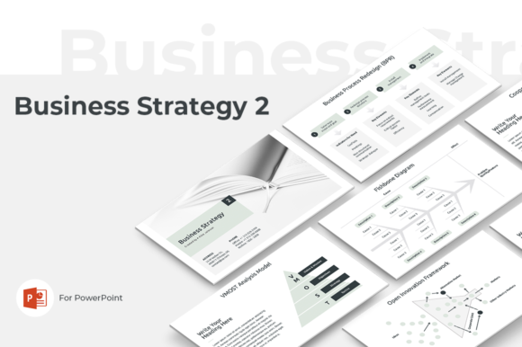 Business Strategy 2 PowerPoint Template Graphic Presentation Templates By JetzTemplates