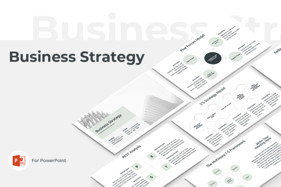 Download Free Business Strategy Powerpoint Template Graphic By Jetztemplates for Cricut Explore, Silhouette and other cutting machines.