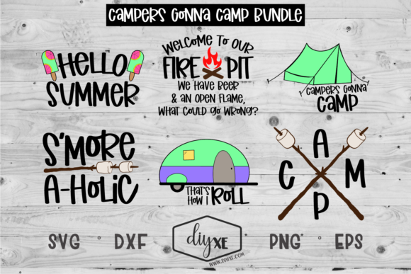Campers Gonna Camp Bundle Graphic Crafts By Sheryl Holst