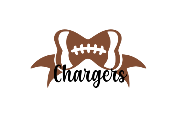 Download Free Chargers Football Bow Svg Graphic Graphic By Am Digital Designs for Cricut Explore, Silhouette and other cutting machines.