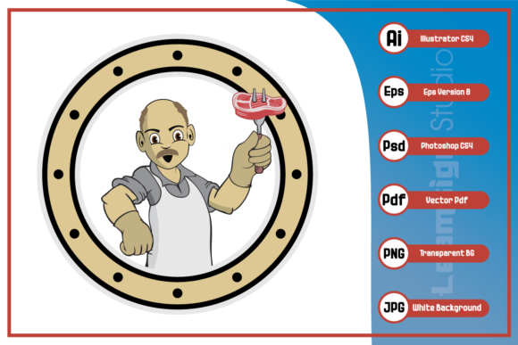 Print on Demand: Chef Grandpa Cartoon Character Graphic Icons By leamsign