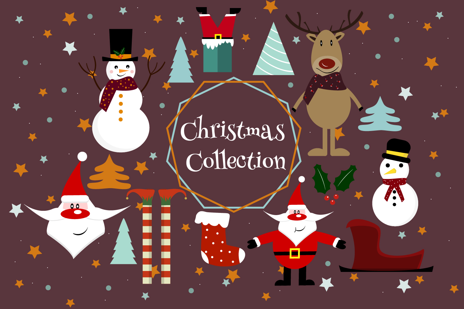 Download Free Christmas Clipart Santa Clipart Graphic By Igraphic Studio for Cricut Explore, Silhouette and other cutting machines.