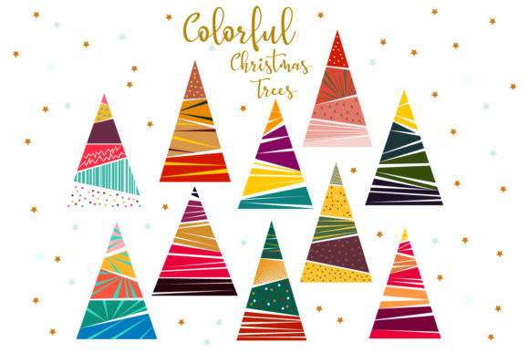 Download Free Christmas Tree Colorful Christmas Tree Graphic By Igraphic Studio Creative Fabrica for Cricut Explore, Silhouette and other cutting machines.
