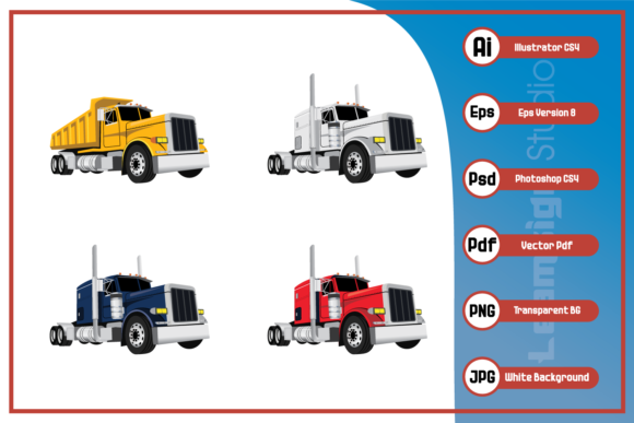 Print on Demand: Classic Trucks Design Graphic Icons By leamsign