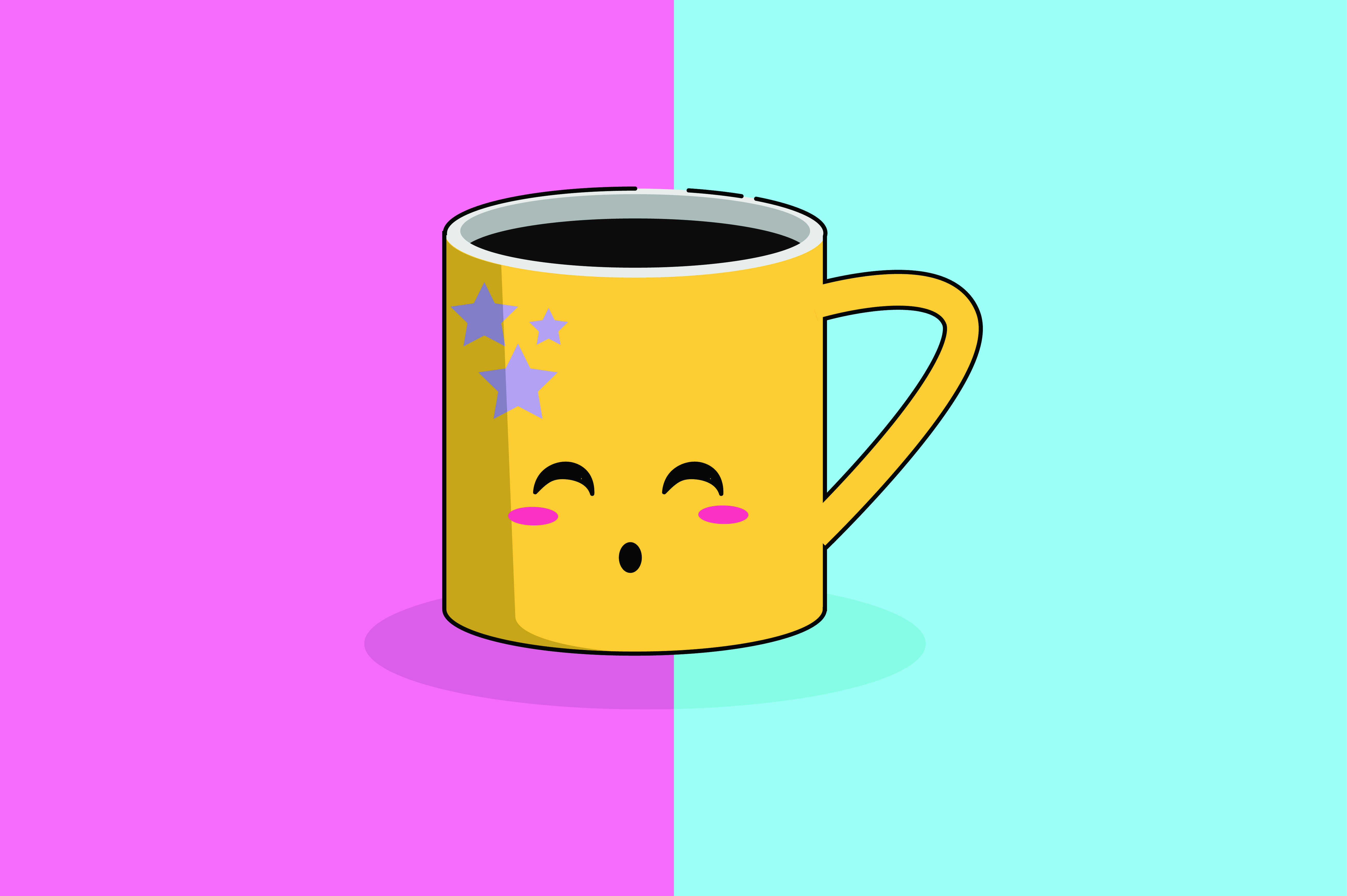 Download Free Coffee Mug Kawaii Cute Illustration Graphic By Purplebubble for Cricut Explore, Silhouette and other cutting machines.