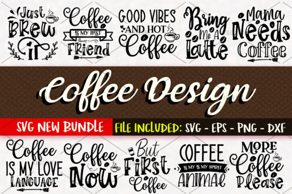 Print on Demand: Coffee SVG Bundle Vol 1 Grafik Designvorlagen von OrinDesign