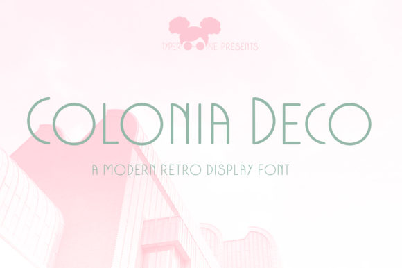 Print on Demand: Colonia Deco Sans Serif Font By typerookie