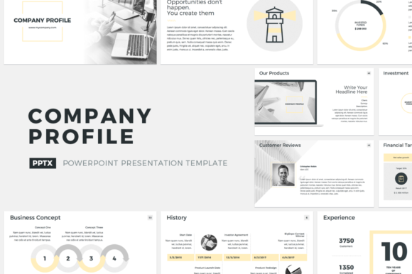Company Profile PowerPoint Template Graphic Presentation Templates By JetzTemplates