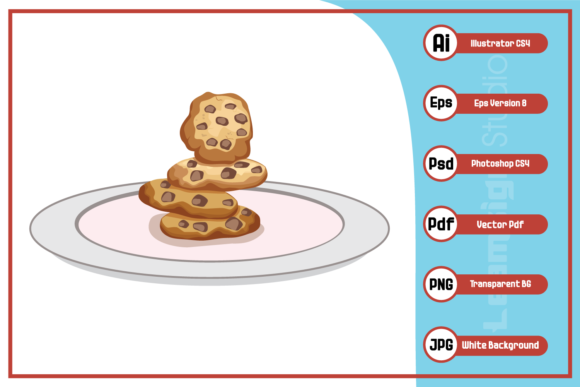 Print on Demand: Cookies Illustration Design Gráfico Iconos Por leamsign
