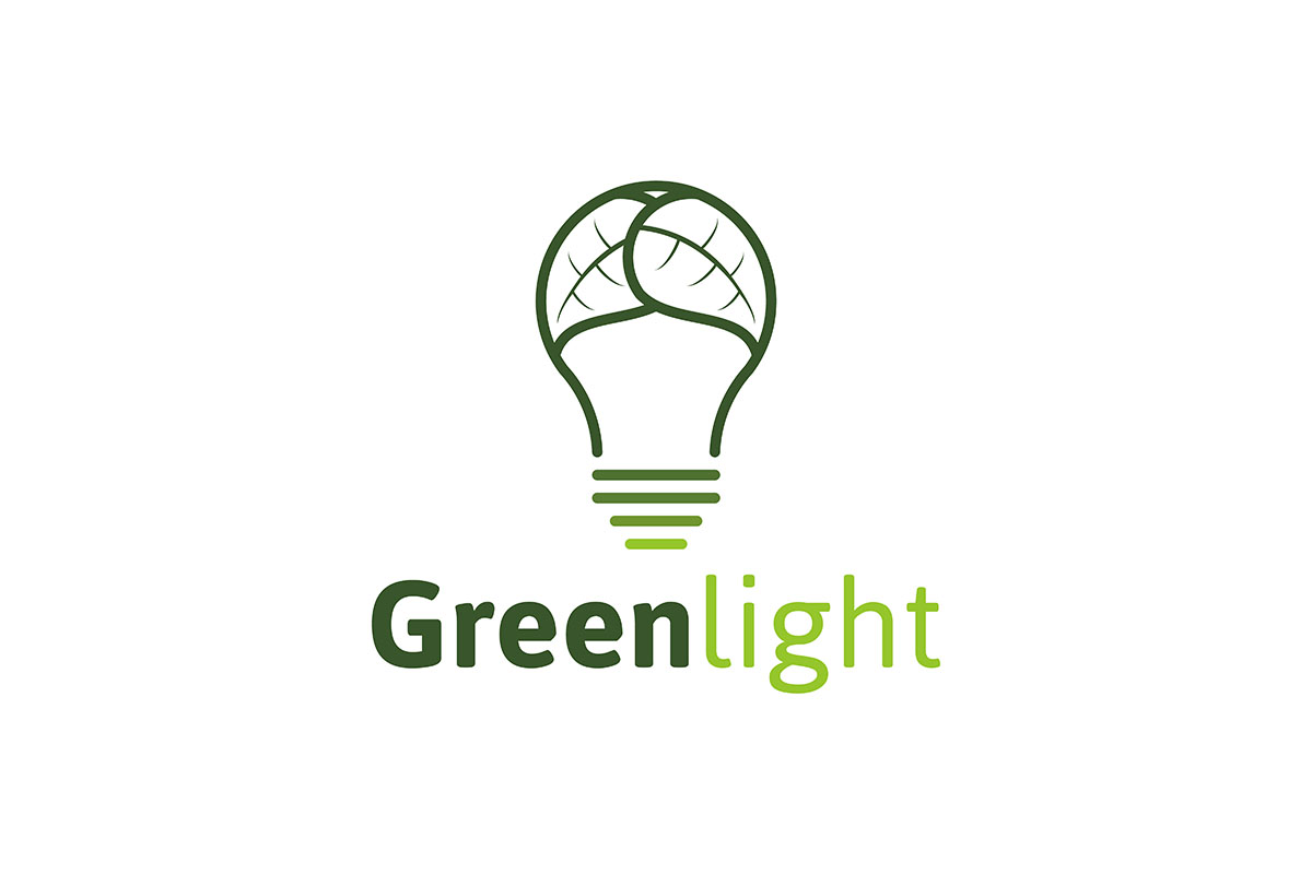 Download Free Creative Abstract Green Bulb Leaf Logo I Grafik Von for Cricut Explore, Silhouette and other cutting machines.