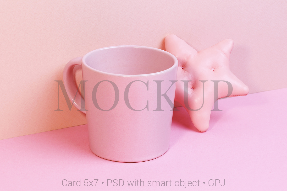 Download Free Cup Mockup With Toy Star Free Bonus Graphic By Pawmockup for Cricut Explore, Silhouette and other cutting machines.