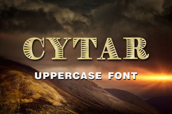 Print on Demand: Cytar Display Font By Eva Barabasne Olasz