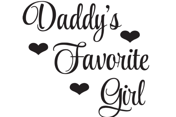 Download Free Daddy S Favorite Girl With Hearts Svg Graphic By Am Digital for Cricut Explore, Silhouette and other cutting machines.