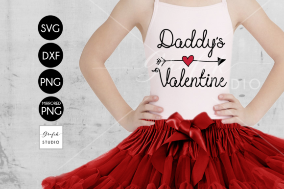Download Free Daddys Valentine Graphic By Grafikstudio Creative Fabrica for Cricut Explore, Silhouette and other cutting machines.
