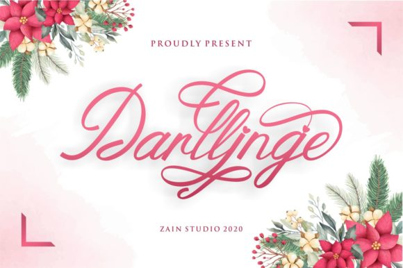 Print on Demand: Darllinge Script & Handwritten Font By zainstudio