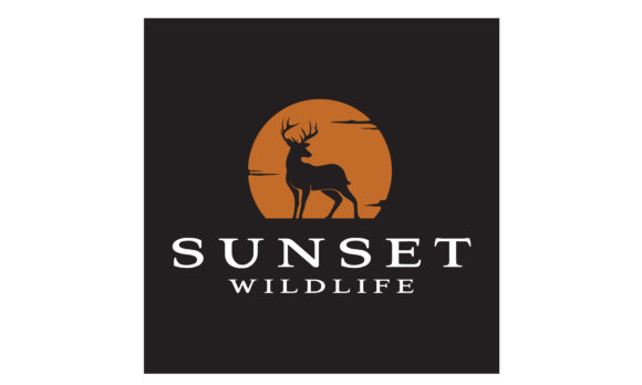 Download Free Deer Buck Stag Silhouette Sunset Logo Graphic By Enola99d for Cricut Explore, Silhouette and other cutting machines.