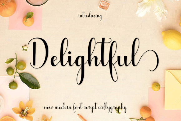 Print on Demand: Delightful Script & Handwritten Font By MYdesign