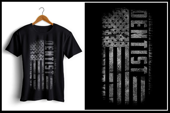 Download Free Dentist Usa Flag T Shirt Design Graphic By Zaibbb Creative for Cricut Explore, Silhouette and other cutting machines.