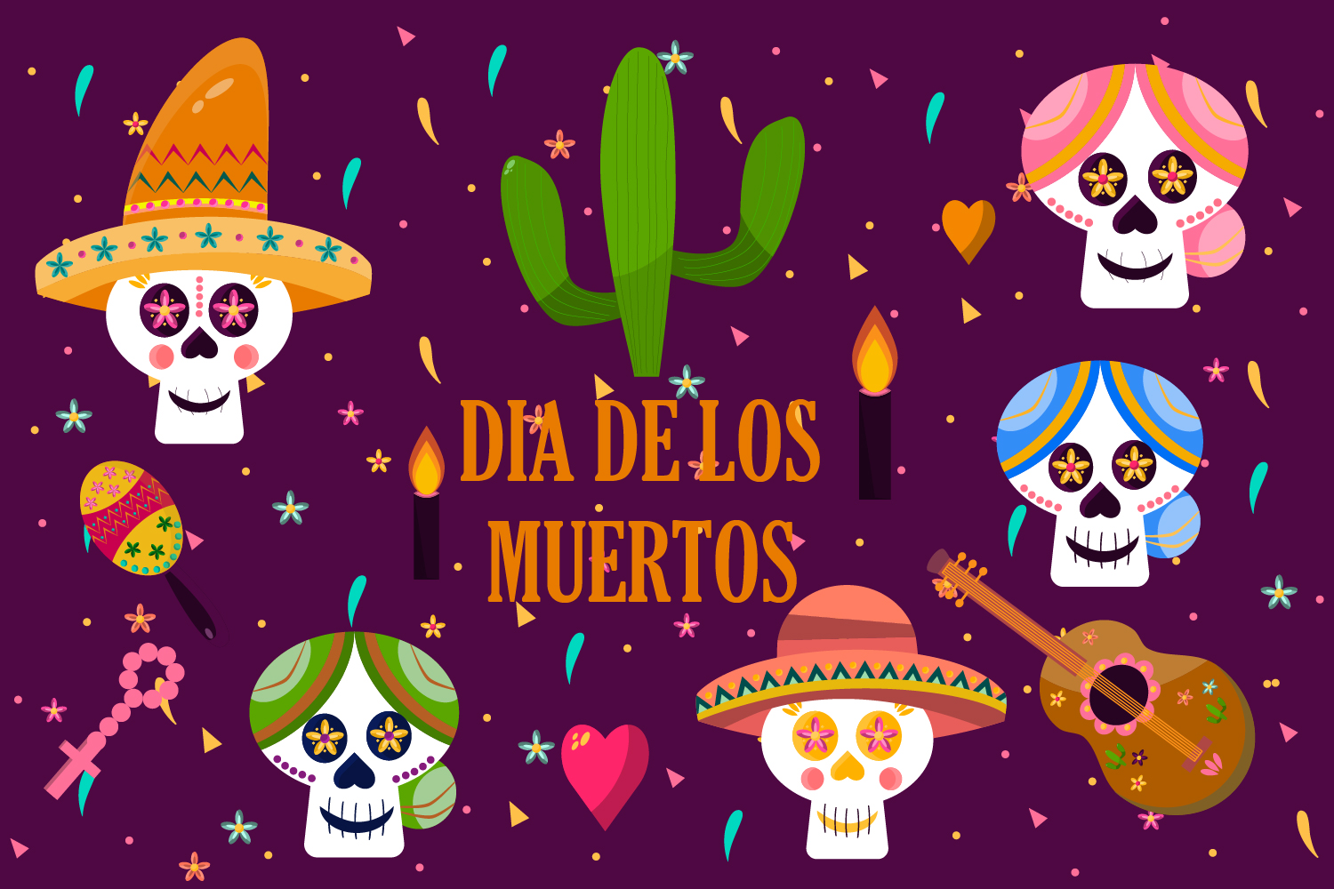 Download Free Dia De Los Muertos Day Of The Dead Graphic By Igraphic Studio for Cricut Explore, Silhouette and other cutting machines.