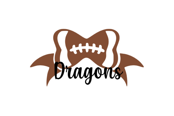 Download Free Dragons Football Bow Svg Graphic Graphic By Am Digital Designs for Cricut Explore, Silhouette and other cutting machines.
