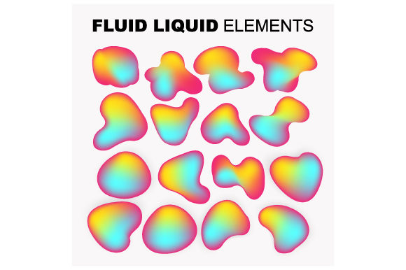 Print on Demand: Dynamical Set of Abstract and Line Fluid Graphic Objects By iop_micro