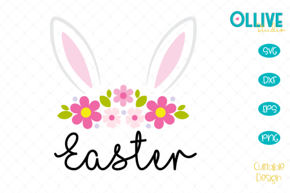Easter Bunny Girl Graphic Crafts By ollivestudio