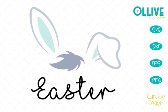 Download Free Easter Bunny Graphic By Ollivestudio Creative Fabrica for Cricut Explore, Silhouette and other cutting machines.