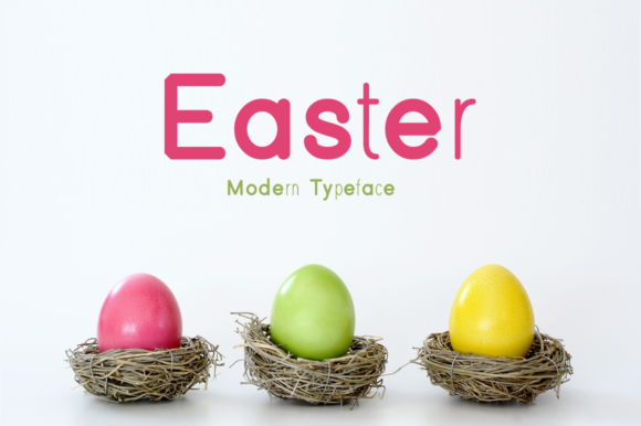 Print on Demand: Easter Display Font By Instagram Fonts