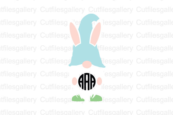 Download Free Easter Gnome Monogram Svg Graphic By Cutfilesgallery Creative for Cricut Explore, Silhouette and other cutting machines.