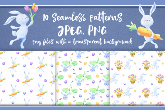 Print on Demand: Easter Hunt. Seamless Patterns Graphic Patterns By Olga Belova - Image 1