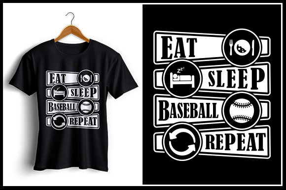 Download Free Eat Sleep Baseball Repeat Graphic By Zaibbb Creative Fabrica for Cricut Explore, Silhouette and other cutting machines.