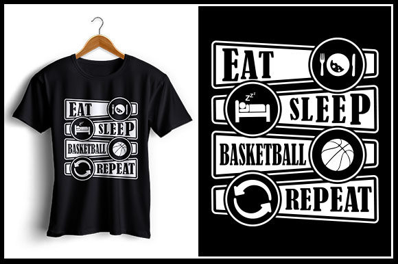 Download Free Eat Sleep Basketball Repeat Graphic By Zaibbb Creative Fabrica for Cricut Explore, Silhouette and other cutting machines.