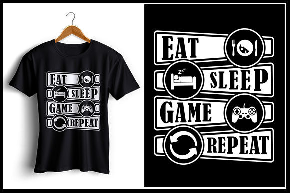 Download Free Eat Sleep Game Repeat Graphic By Zaibbb Creative Fabrica for Cricut Explore, Silhouette and other cutting machines.